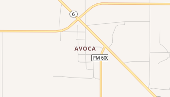 Avoca, Texas map