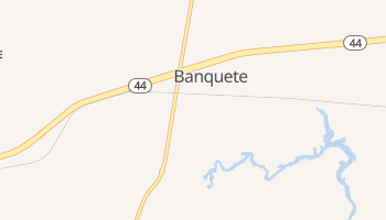 Banquete, Texas map