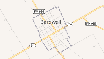 Bardwell, Texas map