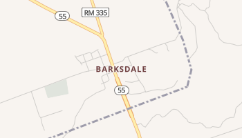 Barksdale, Texas map