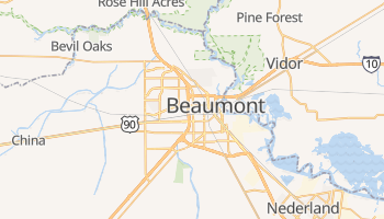 Beaumont, Texas map