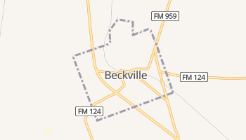 Beckville, Texas map