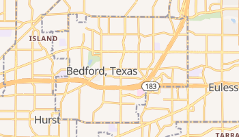 Bedford, Texas map