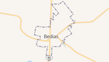 Bedias, Texas map