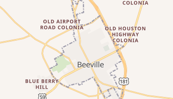 Beeville, Texas map