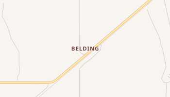 Belding, Texas map