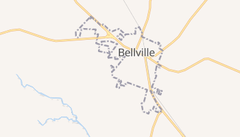 Bellville, Texas map