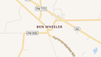 Ben Wheeler, Texas map