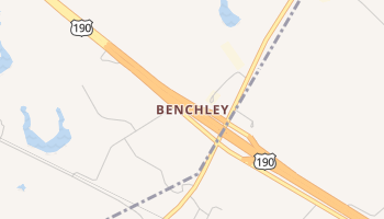 Benchley, Texas map
