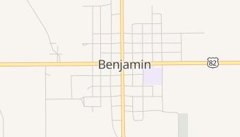 Benjamin, Texas map