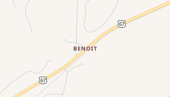 Benoit, Texas map