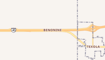 Benonine, Texas map