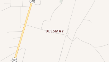 Bessmay, Texas map