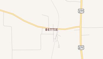 Bettie, Texas map