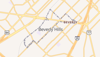 Beverly Hills, Texas map
