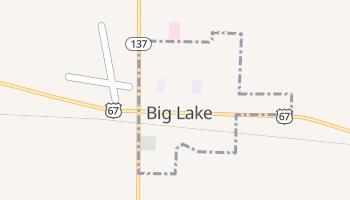 Big Lake, Texas map