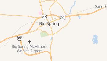 Big Spring, Texas map