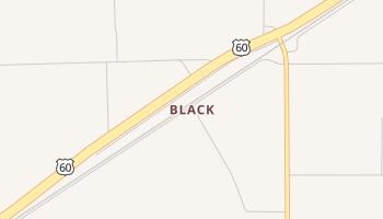 Black, Texas map