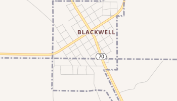 Blackwell, Texas map