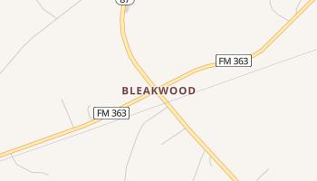 Bleakwood, Texas map
