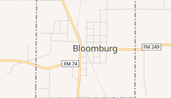 Bloomburg, Texas map