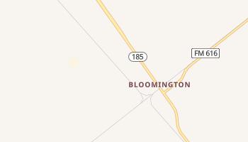Bloomington, Texas map