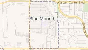 Blue Mound, Texas map