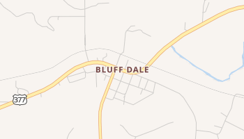Bluff Dale, Texas map