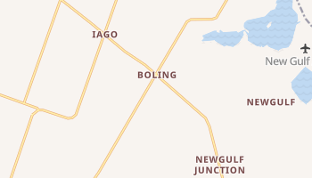 Boling, Texas map