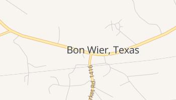 Bon Wier, Texas map