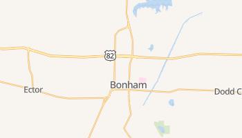 Bonham, Texas map