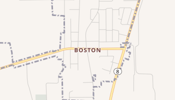 Boston, Texas map