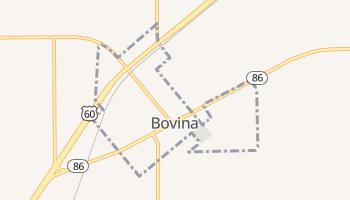 Bovina, Texas map