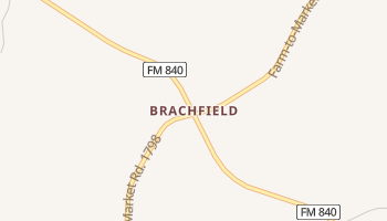 Brachfield, Texas map