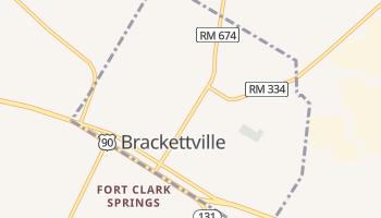 Brackettville, Texas map