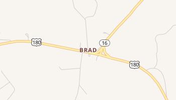 Brad, Texas map