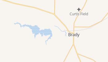 Brady, Texas map