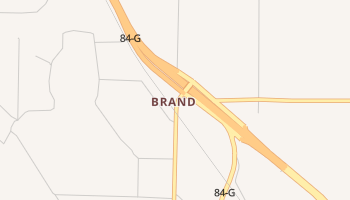 Brand, Texas map