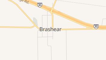 Brashear, Texas map