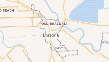 Brazoria, Texas map