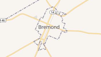 Bremond, Texas map