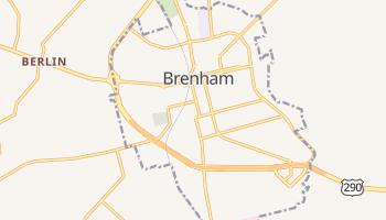 Brenham, Texas map
