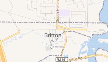 Britton, Texas map
