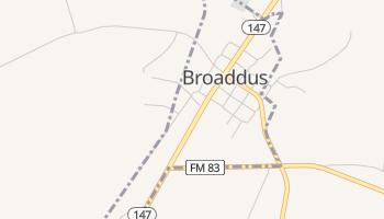 Broaddus, Texas map
