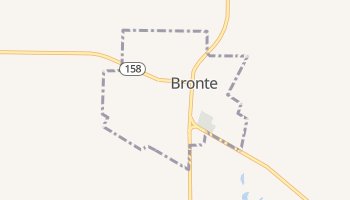 Bronte, Texas map
