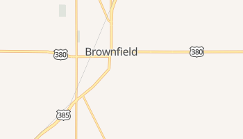 Brownfield, Texas map
