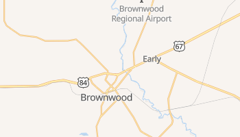 Brownwood, Texas map