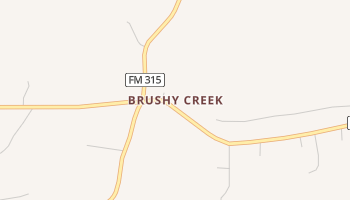 Brushy Creek, Texas map