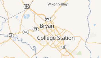 Bryan, Texas map