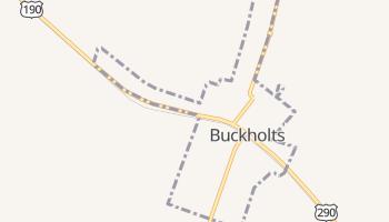 Buckholts, Texas map